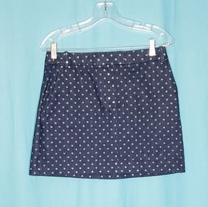 J Crew Denim Mini Skirt  size 8